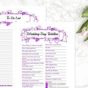 Purple Wedding Binder C