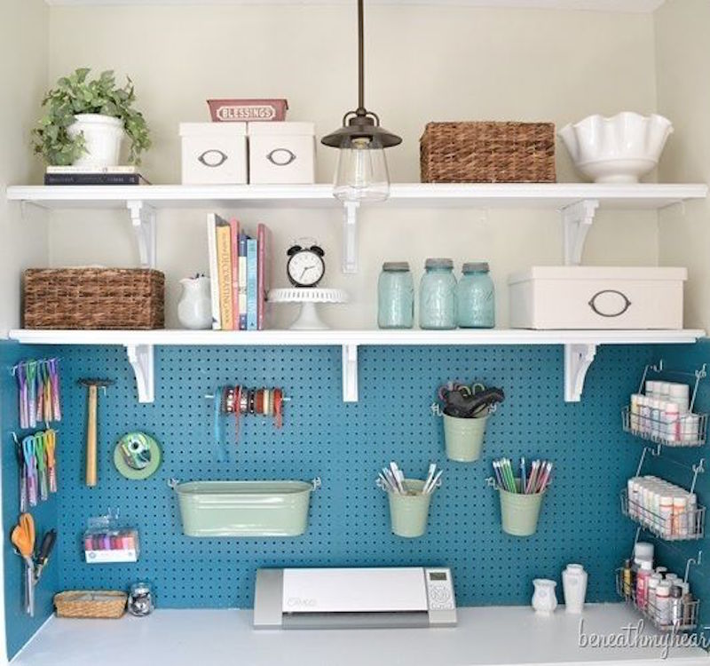 31 Pegboard Ideas for Your Craft Room