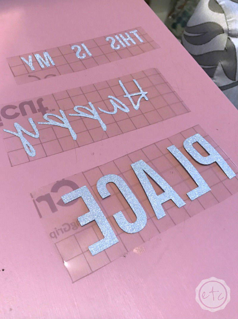 How to Cut Glitter Vinyl with the Cricut