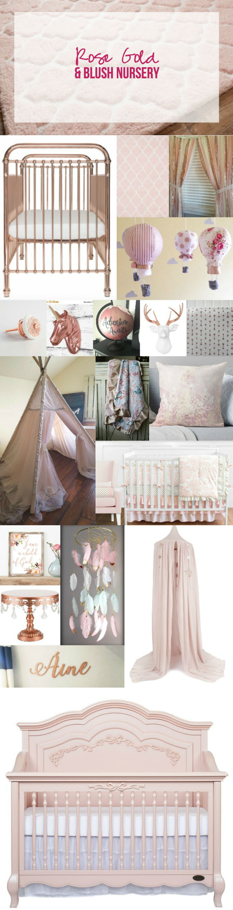 Rose Gold and Blush Nursery