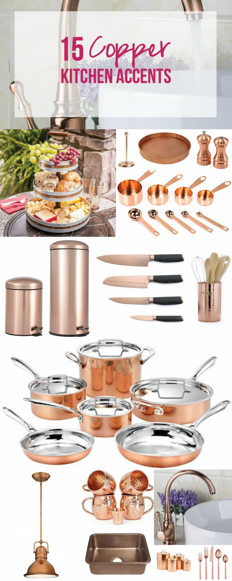 15 copper kitchen accents happily ever after etc - Kitchen with copper accents ...