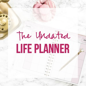 The Undated Life Planner