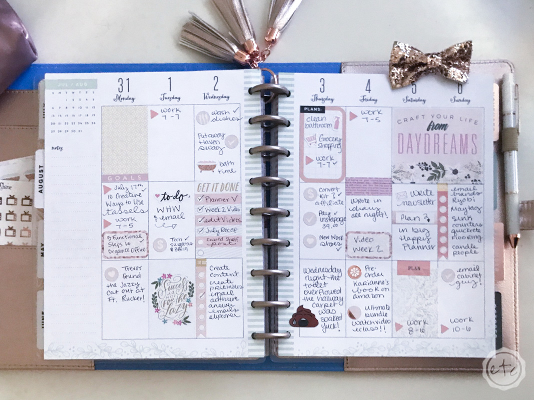 Plan With Me July 31 - Aug 6