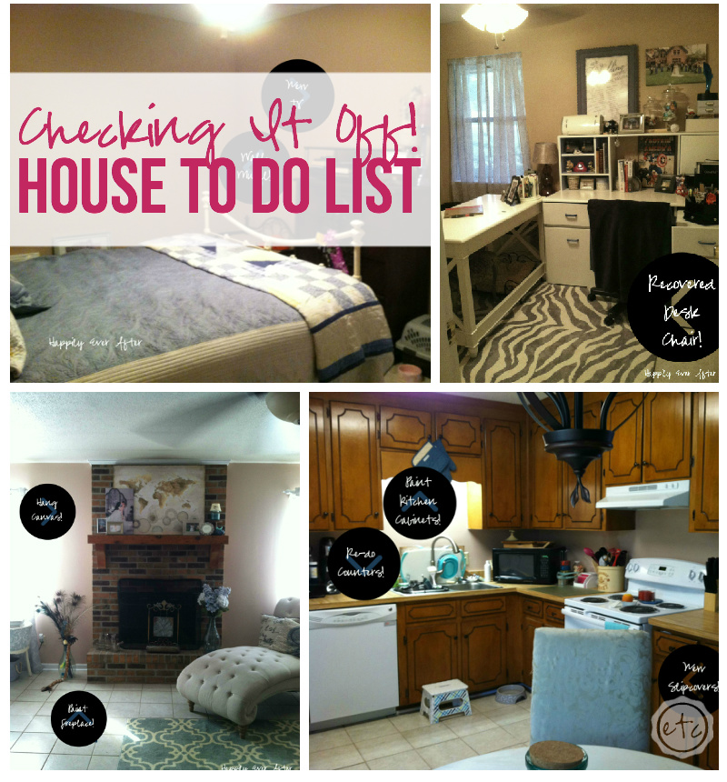 Checking it Off... House to-do List with Happily Ever After, Etc.