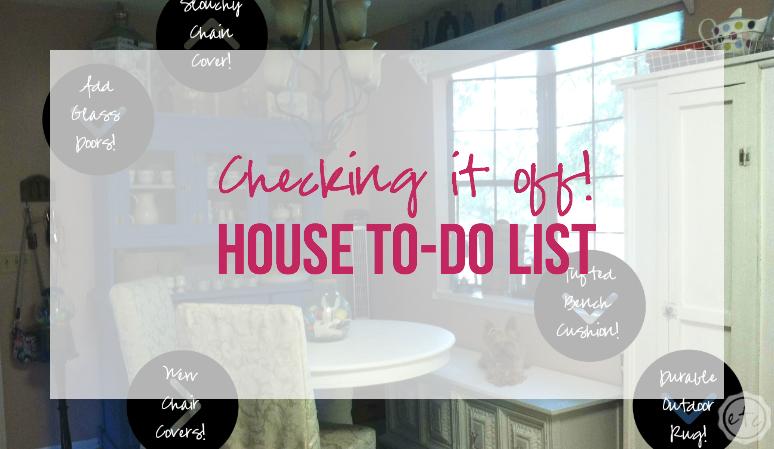 Checking it off! House To-do List