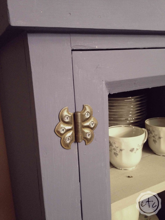 Love this painted antique pie safe from Happily Ever After, Etc. The blue and grey chalk paint is so pretty! https://happilyeverafteretc.com/2014/09/05/big-blue-beautiful/