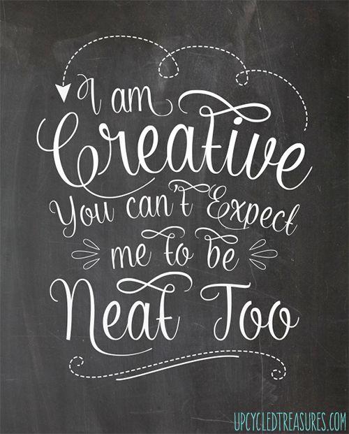 creative not neat