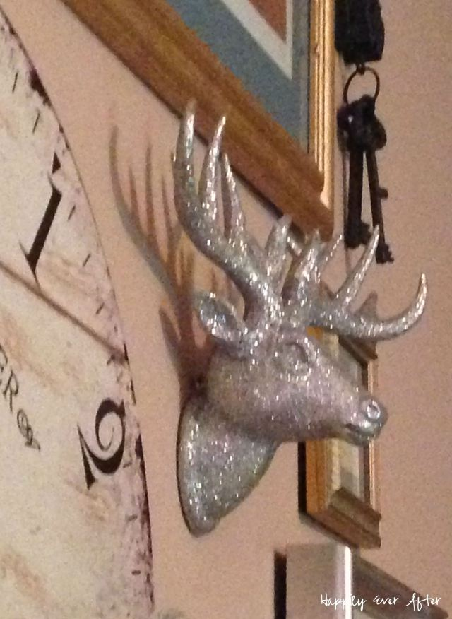 Taxidermy - Silver Glitter Deer | Happily Ever After Etc.
