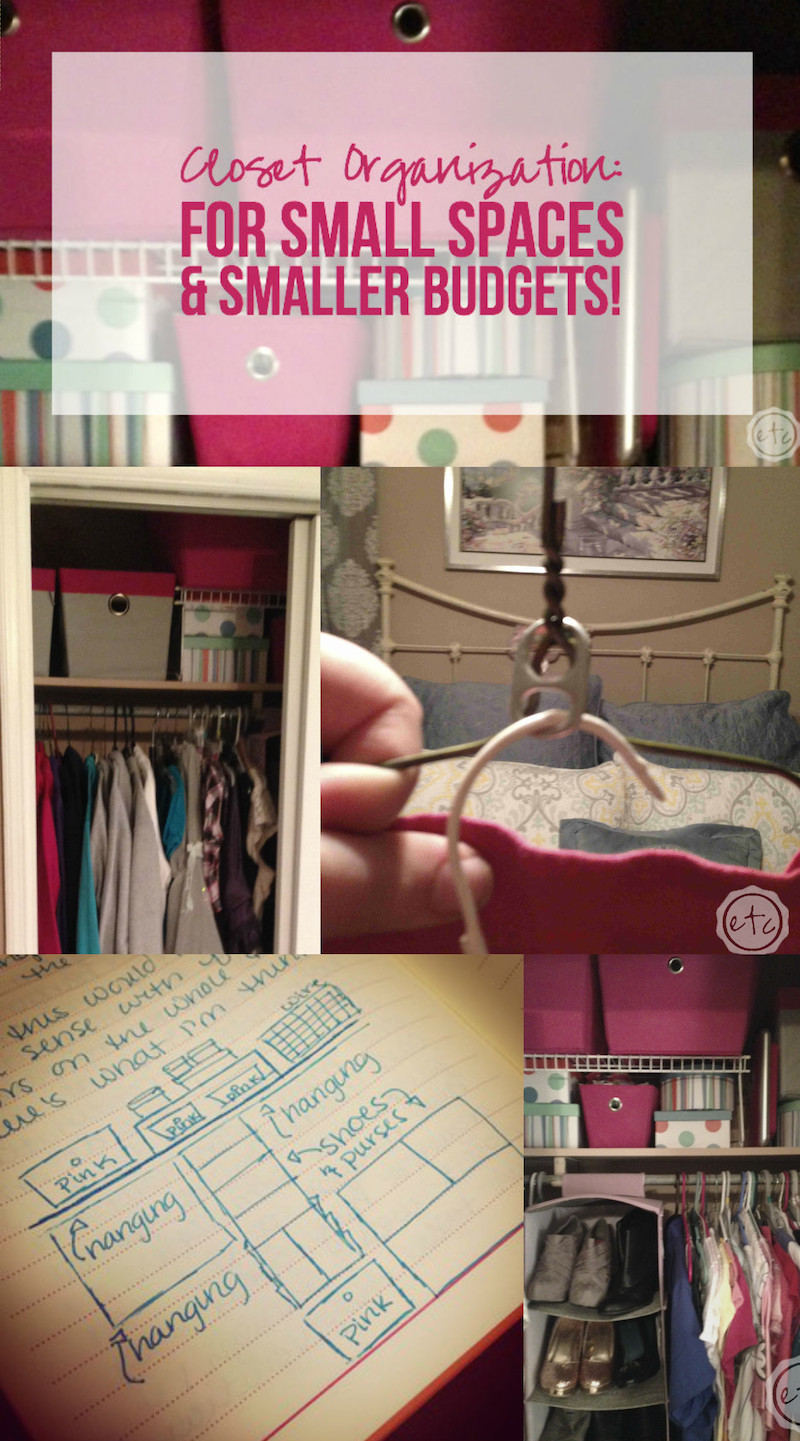 Closet Organization for Small Spaces & Smaller Budgets with Happily Ever After Etc