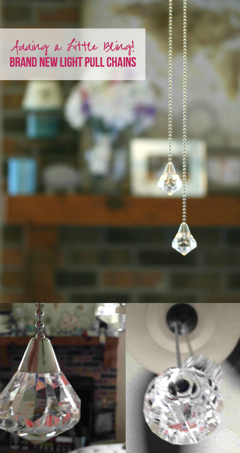 Adding a Little Bling - Brand New Light Pull Chains with Happily Ever After Etc