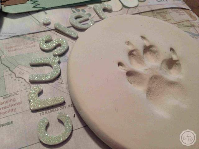 Puppy Pawprints - Keepsake Shadow Box | Happily Ever After