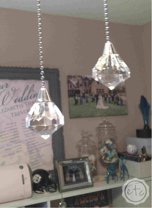 Adding a little bling - Brand new light pull chains | Happily Ever After Etc.