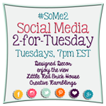 It's time for the #SoMe2 #LinkParty! Join us and enter to win a featured blogger spot! #socialmedia #network