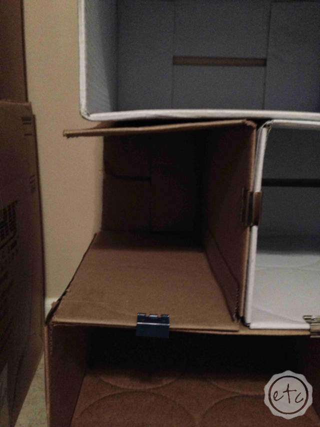 DIY Cardboard Bookcase   Happily Ever After Etc.