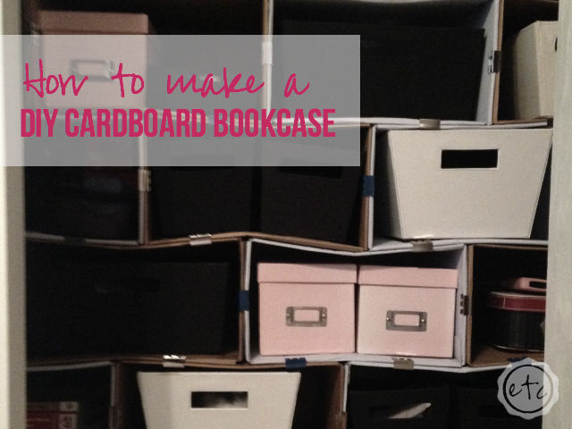 DIY Cardboard Bookcase | Happily Ever After Etc.