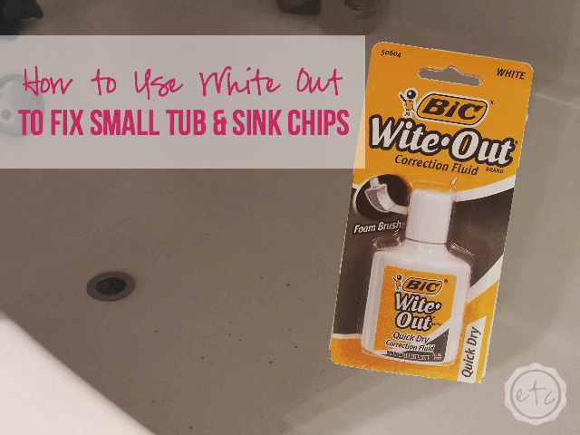 How to Fix Tub & Sink Chips | Happily Ever After Etc.