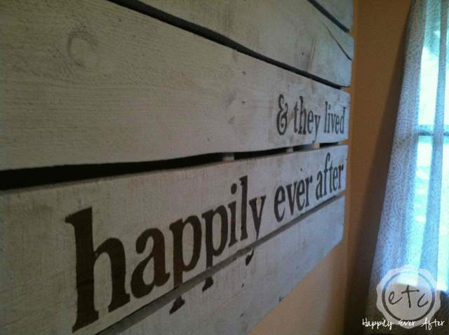 How to Paint a GIANT Pallet | Happily Ever After, Etc.