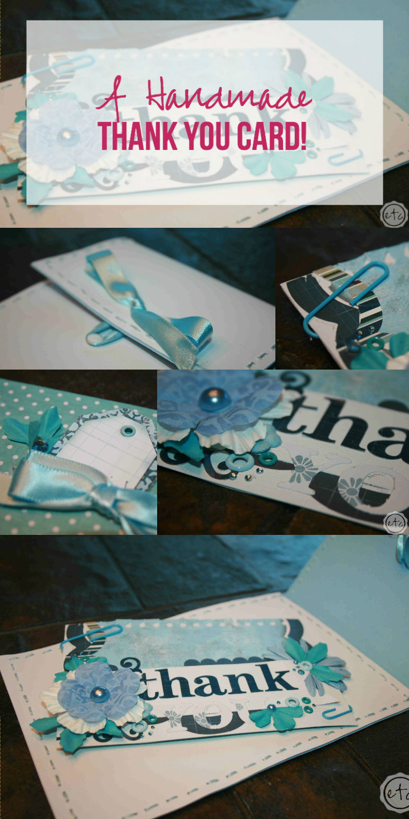 A Handmade Thank You Card with Happily Ever After Etc