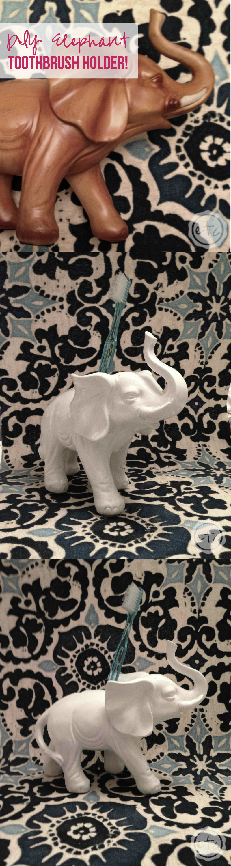 DIY Elephant Toothbrush Holder with Happily Ever After, Etc.