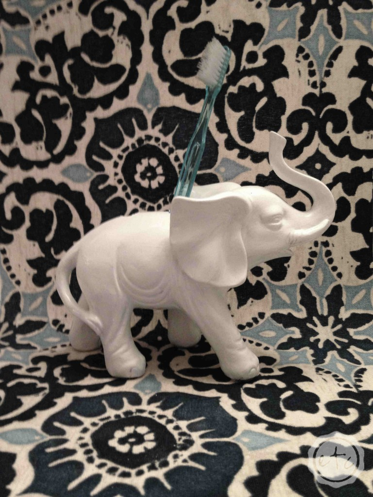 DIY Elephant Toothbrush Holder   Happily Ever After, Etc.