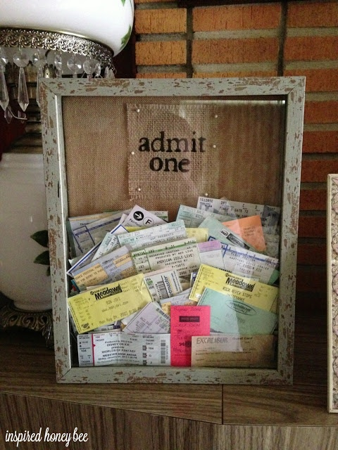 Saving Memories: Ticket Stubs etc | Happily Ever After, Etc.