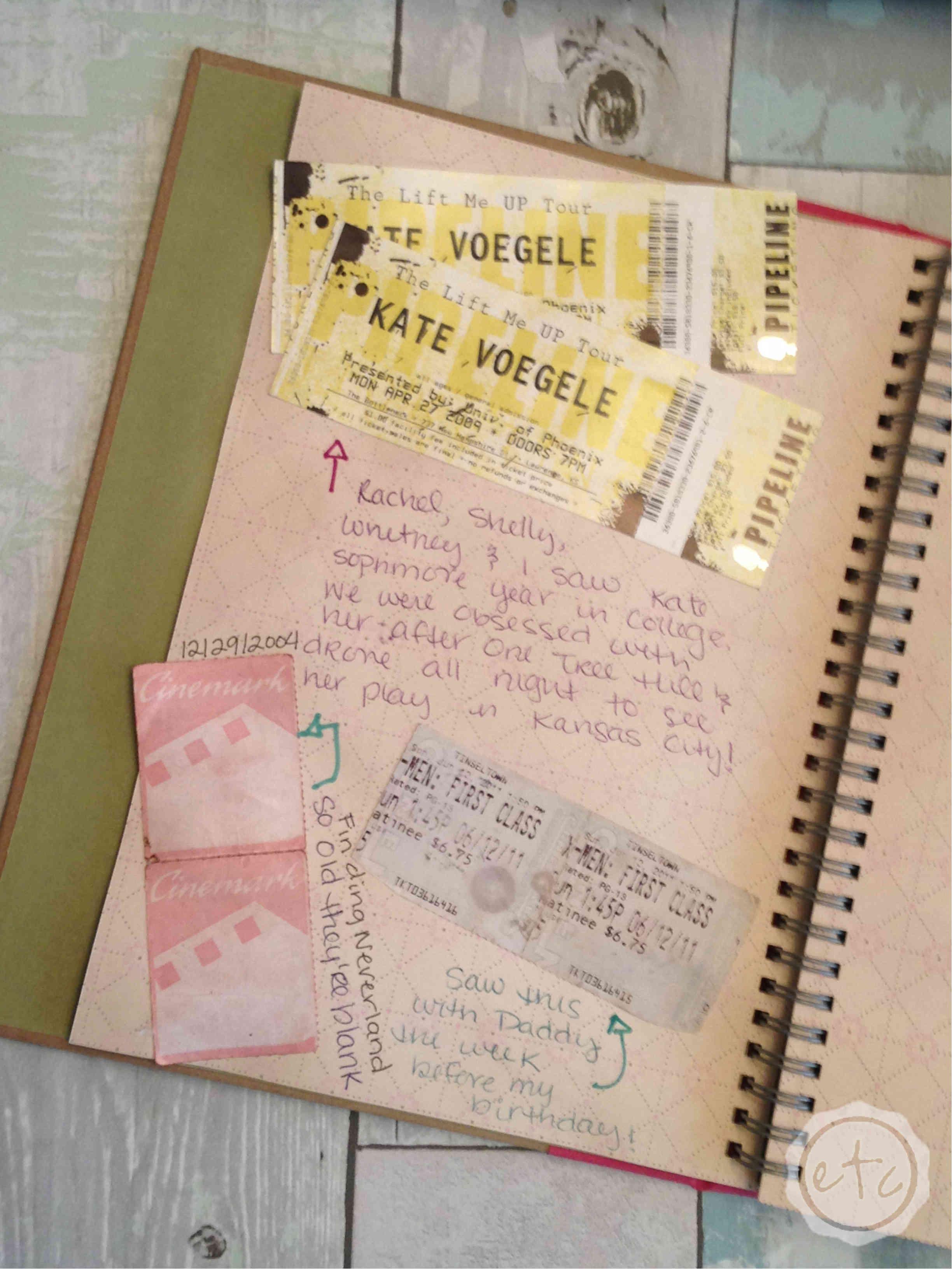 Saving Memories Ticket Stubs Other Memorabilia