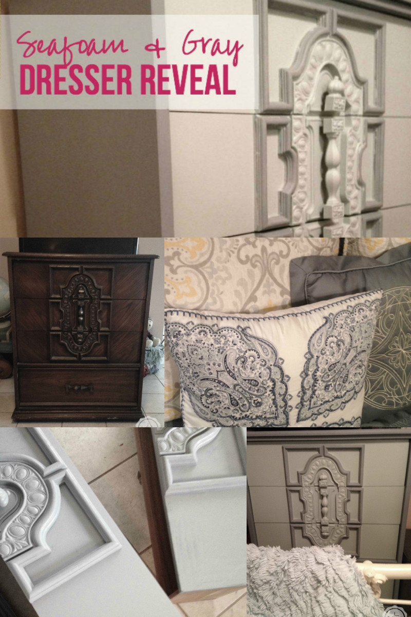 Seafoam & Gray Dresser Reveal with Happily Ever After Etc
