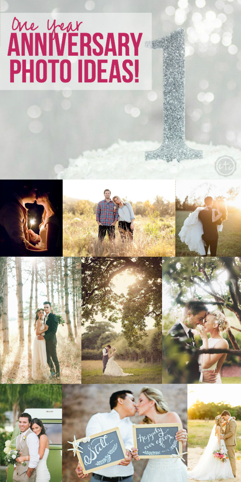 1 Year Anniversary Photo Ideas with Happily Ever After Etc
