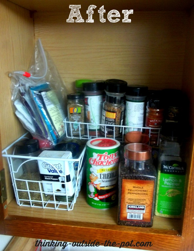 Frugal Spice Cabinet Organization | Happily Ever After, Etc.