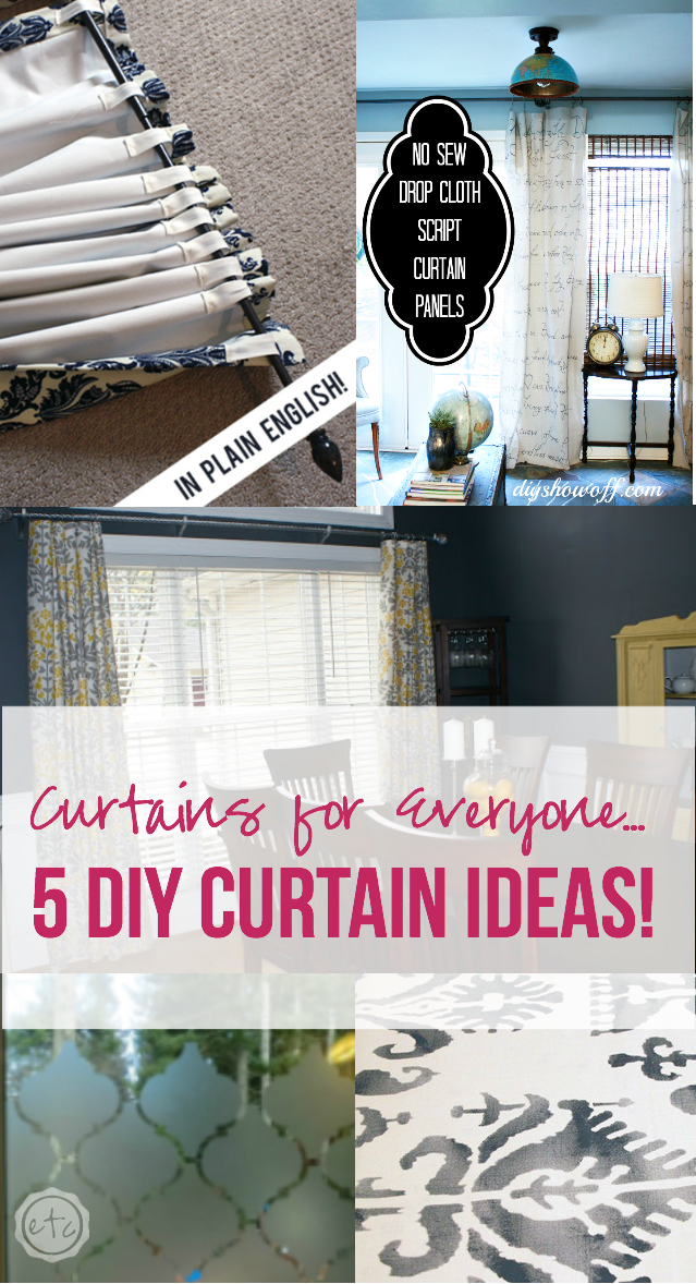 Curtains for Everyone... 5 DIY Curtain Ideas! Happily Ever After, Etc.