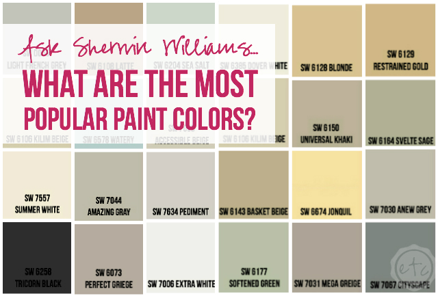 Most Popular Paint Colors Prepossessing August Round Up  Happily Ever After Etc. 2017