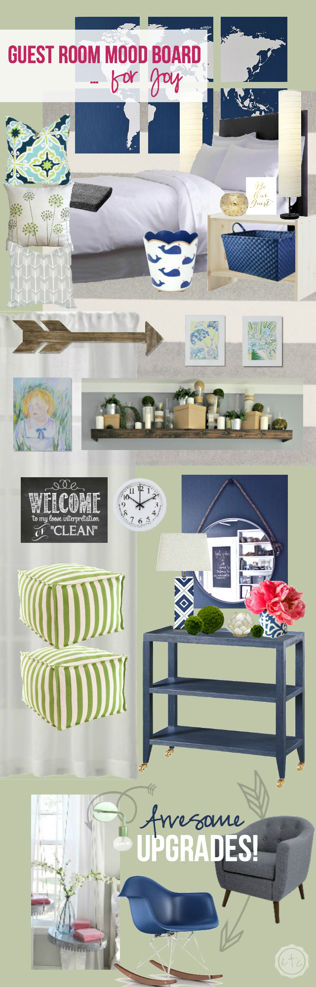 Guest Room Mood Board... for Joy! with Happily Ever After, Etc.