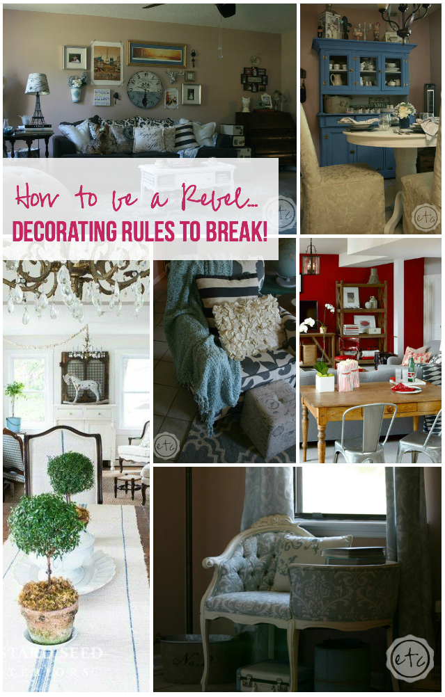 Interior Decorating Rules how to be a rebel decorating rules to break! - happily ever