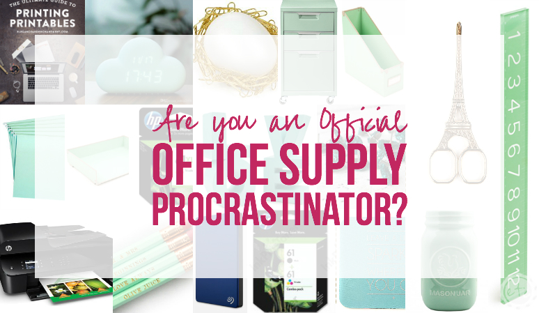 Are you an Official Office Supply Procrastinator?