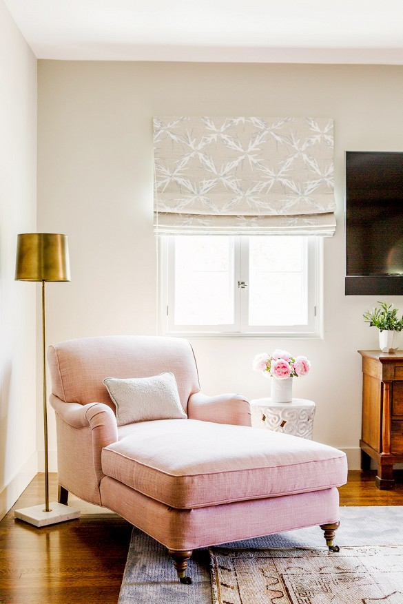 Happily Ever After, Etc. Blush Chaise