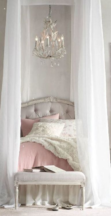 Tall bed with canopy