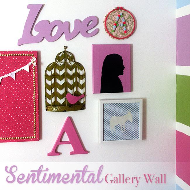 curly crafty mom sentimental gallery wall