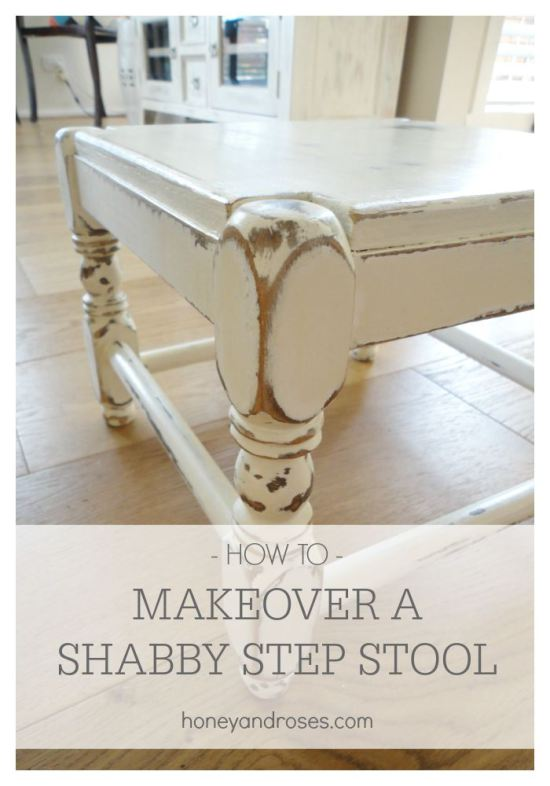 shabby step stool