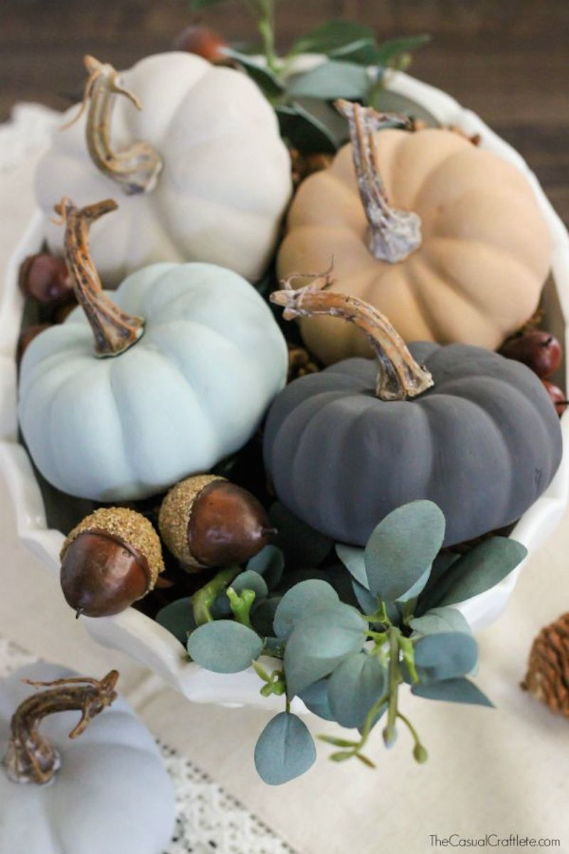 1 Vintage-Chalky-Finish-Paint-Pumpkins-beautiful-neutral-colors-for-fall