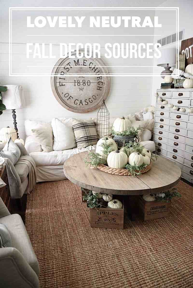 10 neutral fall decorating ideas happily ever after etc for Neutral home decor ideas