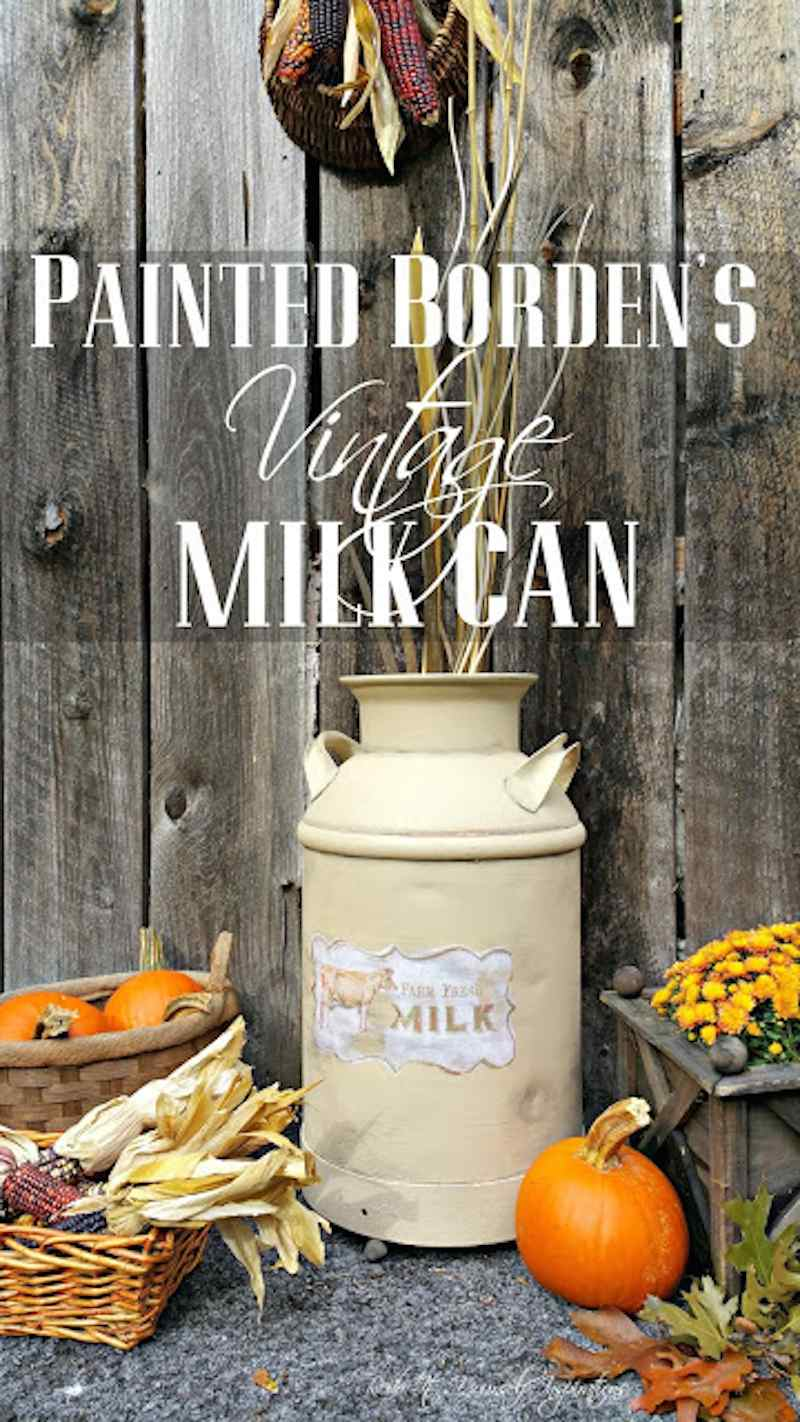 Painted Vintage Bordens Milk Can RedoItYourselfInspirations_compressed