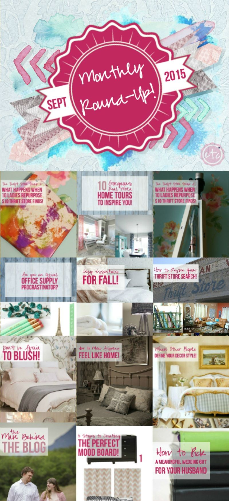 September 15 Monthly Round up with Happily Ever After, Etc.