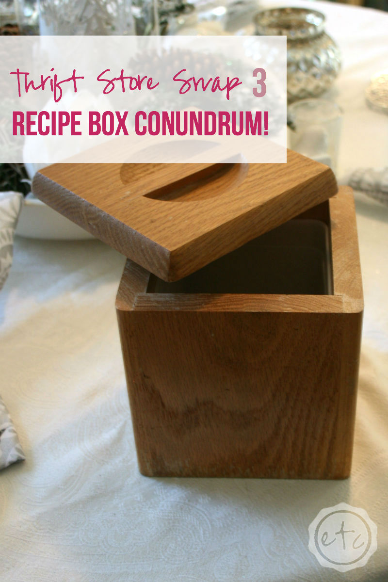 Thrift Store Swap 3: Recipe Box Conundrum with Happily Ever After, Etc.