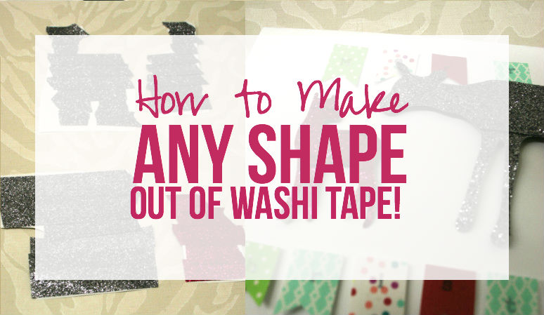 How to Make ANY Shape out of WASHI Tape!