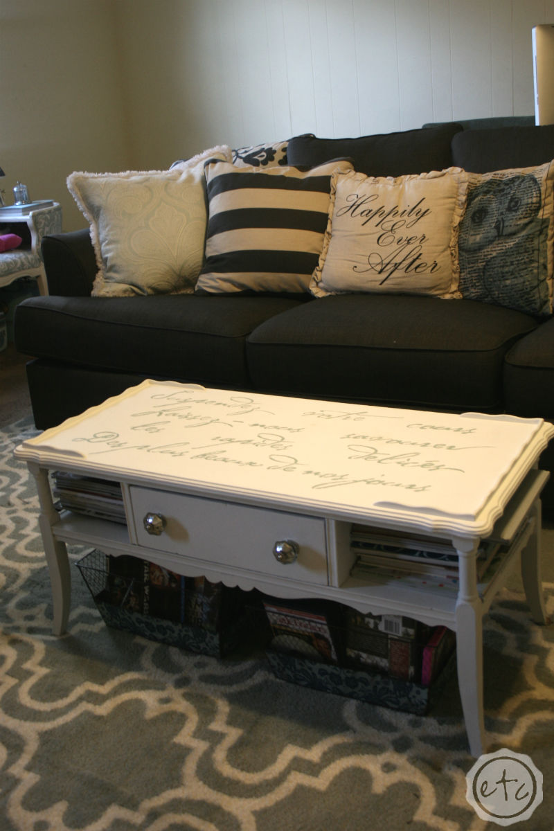 Chalk Paint Coffee Table Makeover with Happily Ever After, Etc.