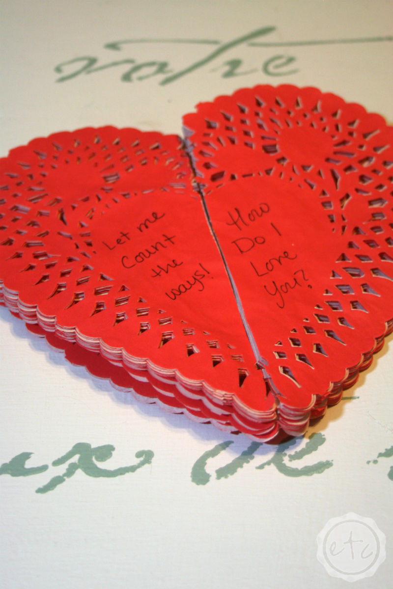 3 Valentines Day Projects to Make with Heart Doilies! with Happily Ever After, Etc.