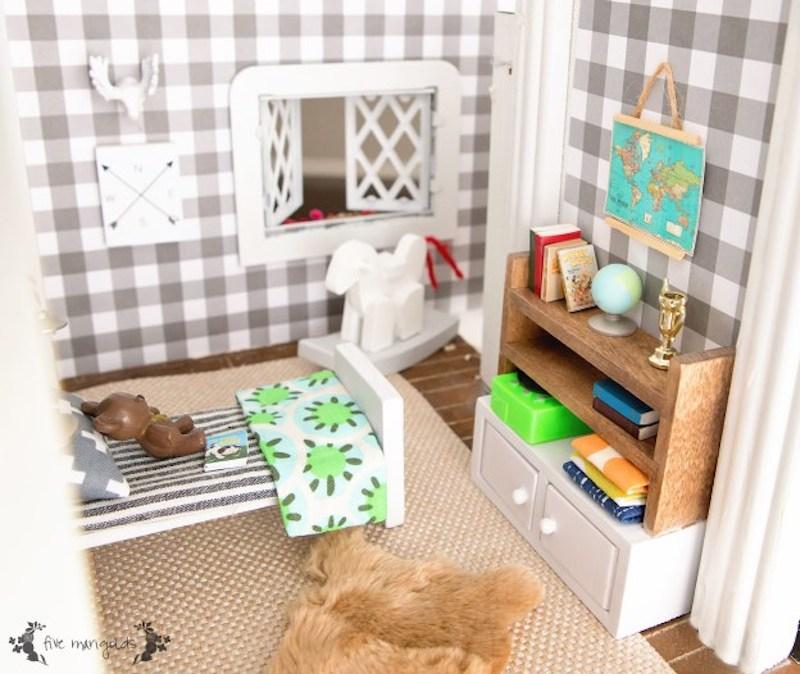 4 Vintage-Dollhouse-Makeover-Boy-Room-www.fivemarigolds.com-