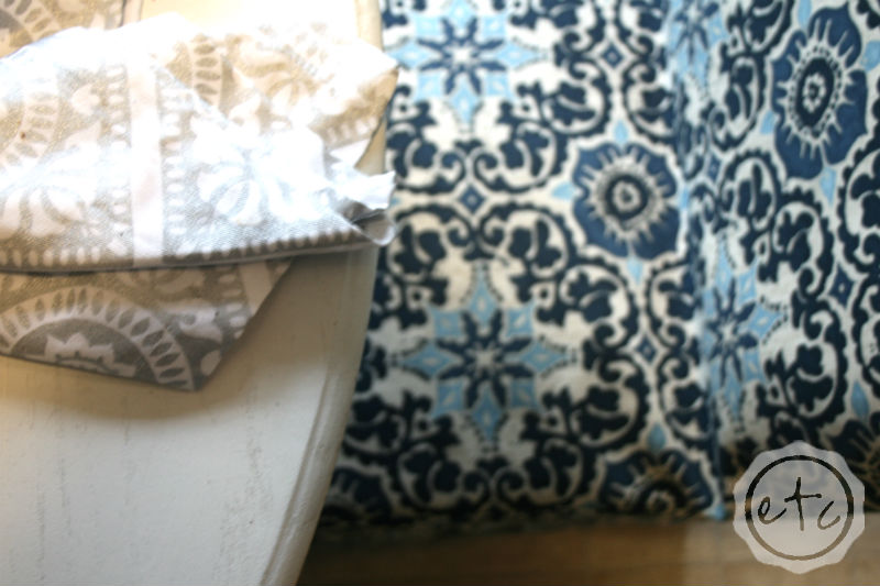 How to Create a New Custom Slipcover... from an Old Ratty Slipcover!