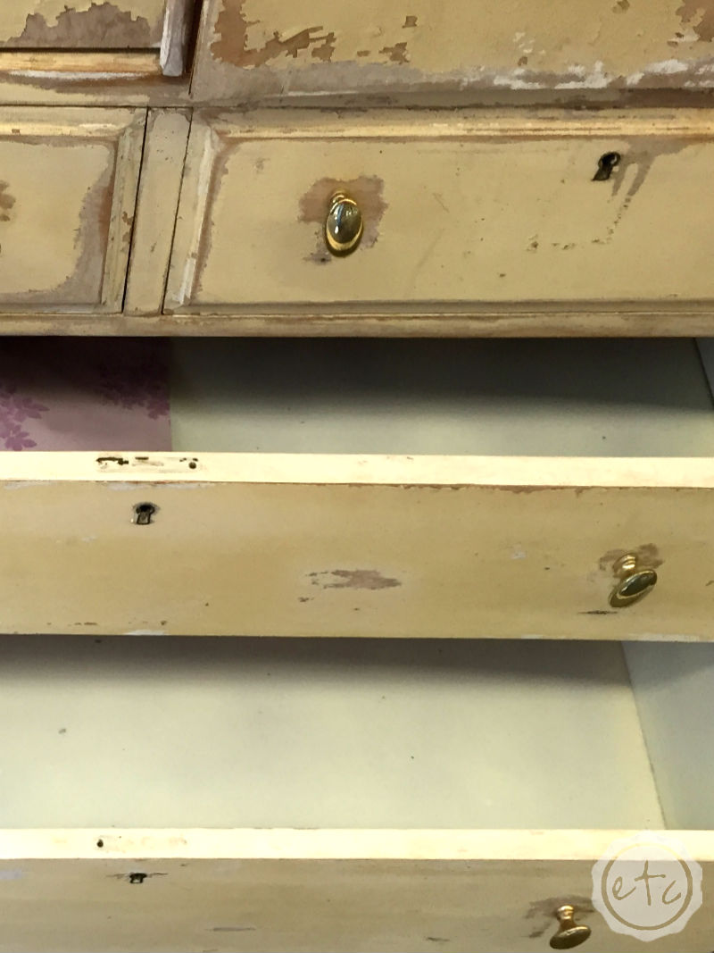 An Antique (Blue) Craft Cabinet Makeover for the Fab Furniture Flippin Contest! with Happily Ever After, Etc.