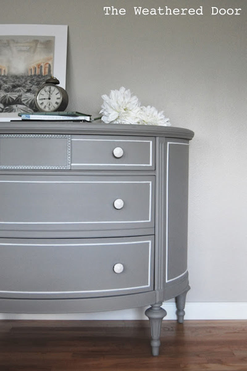 Its all about the Details Hand Painted Dresser Details